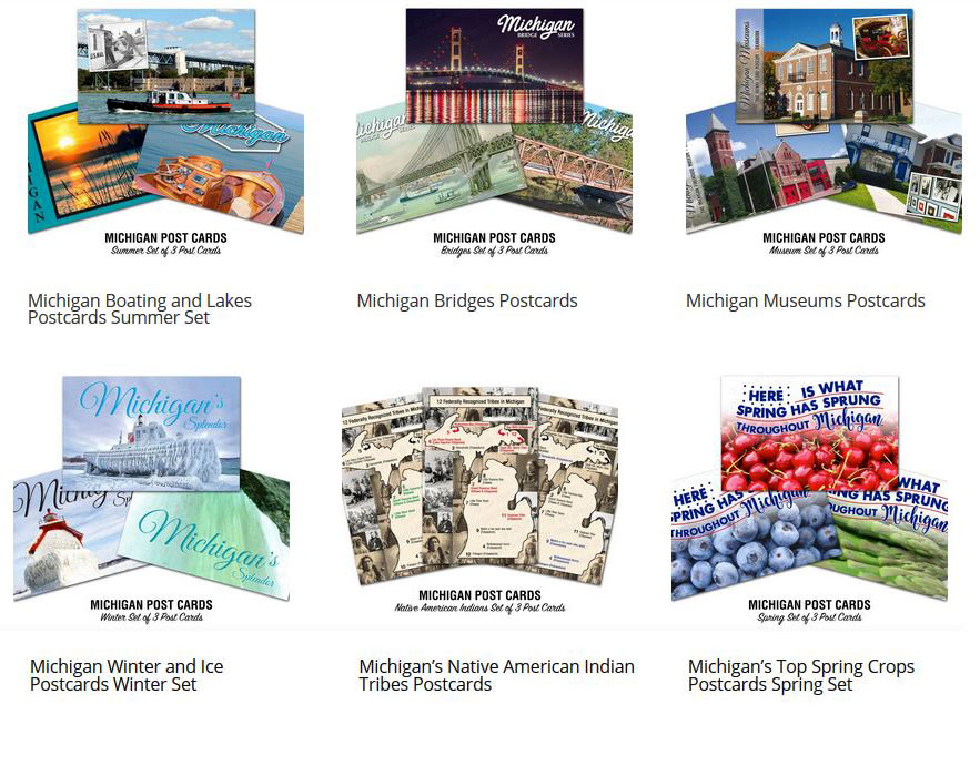 Michigan History Postcards