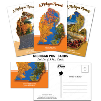 Michigan Must See Spots Postcards Fall Set