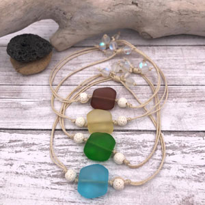 Aromatherapy Sea Glass Bracelets