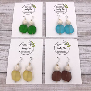 Aromatherapy Sea Glass Earrings