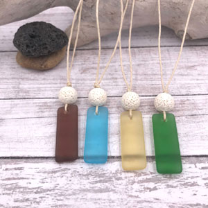 Aromatherapy Sea Glass Necklaces