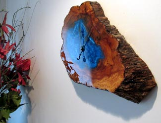 Tree Slab Wall Clock
