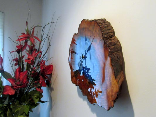 Tree Slab Clock