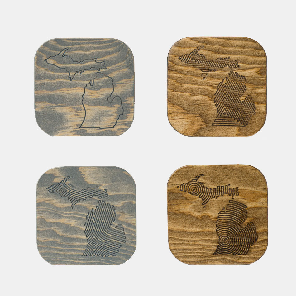 Engraved-Wood-Michigan-Coasters